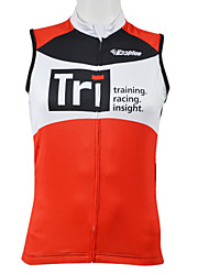 KOOPLUS Bike/Cycling Vest/Gilet / Tops Men's Sleeveless Breathable / Quick Dry / Front Zipper / Wearable 100% Polyester Patchwork RedXS /