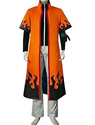 Inspired by Naruto Naruto Uzumaki Anime Cosplay Costumes Cosplay Suits Patchwork Orange Long Sleeve Cloak / Coat / Pants