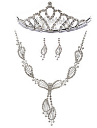 Gorgeous Rhinestones Wedding Bridal Jewelry Set,Including Necklace,Tiara And Earrings