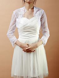 Wedding / Party/Evening Lace Coats/Jackets Half-Sleeve Wedding  Wraps