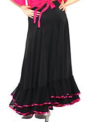 Flamenco Dress Viscose Modern Dance Skirt For Ladies More Colors