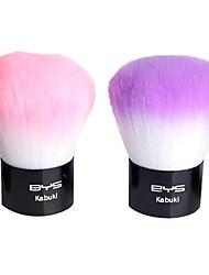 Pinceaux 2pcs cheveux synthétiques cosmétiques avec une poignée rose