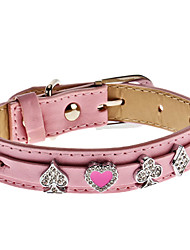 Adjustable Rhinestone Playing Card Style Collar for Dogs (Assorted Color,Neck: 15-25cm/5.9-9.8inch)