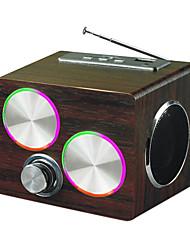 PN-09 Изобразительное деревянный ящик, двойные рога портативный динамик карты