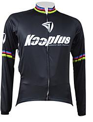 Kooplus Men's Black Rainbow Series Cycling Long Sleeve Jersey