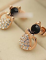 Women's Cat Diamond Studs