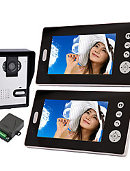 Wireless Night Vision Camera with 7 Inch Door Phone Monitor (1camera 2 monitors)