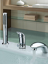 Bathtub Faucet - Contemporary - Sidespray - Stainless Steel (Chrome)