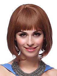 100% Human Hair Advanced Straight Short Bob Hair Wigs