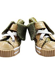 botas jeans macio e quente estilo hip-hop para cães (4 peças, cores sortidas, xs-xl)