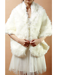 Nice Long Faux Fur Evening/Wedding Shawl
