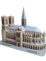 DIY Papier 3D Puzzel Notre Dame de Paris (74pcs, No.2804-E)