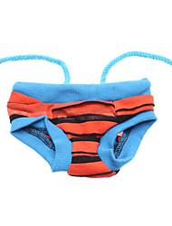 Einstellbare Streifenmuster Sanitär-Hose für Hunde (Assorted Color, S-XL)