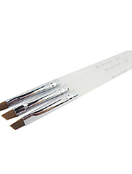 3PCS Kolinsky Hair Nail Art Brushes With Acryl Handles