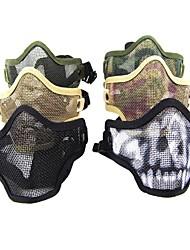 Multi-Color respirant Airsoft en acier inoxydable maille Masque Skull (couleurs assorties)