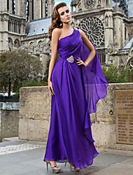 Formal Evening/Military Ball Dress - Regency Sheath/Column One Shoulder Floor-length Chiffon