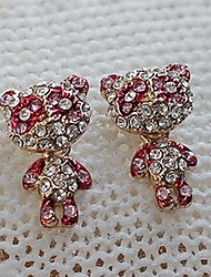 Women's Diamond Bear Earrings