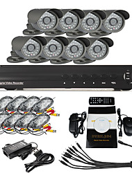 8 CH DVR Home Security Surveillance Camera System (8 Outdoor-Night Vision Kamera)