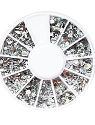 Wit Kunststof Twinkle Nail Art Decorations van verschillende vormen