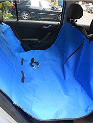 Dog Car Seat Cover Pet Mats & Pads Waterproof Foldable Red Black Blue Brown Gray Textile