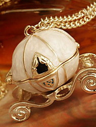 Women's Pumpkin Car Necklace