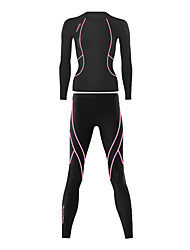 SANTIC Cycling Base Layer Women's Long Sleeve Bike Breathable Thermal / WarmJersey Base Layers Tights Pants/Trousers/Overtrousers Tops