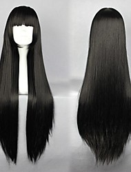 InuYasha Sango Black Long Anime Cosplay Wig