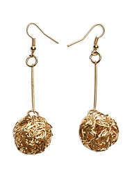 Performance Dancewear Alloy Round Belly Dance Drop Earrings For Ladies More Colors