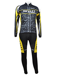 KOOPLUS Men's Cycling Suits Long Sleeve Bike Autumn / Winter Breathable / Quick Dry / Front Zipper BlackS / M / L / XL / XXL / XXXL / XS