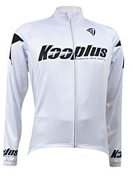 KOOPLUS® Cycling Jacket Men's Long Sleeve Bike Breathable / Quick Dry / Fleece Lining / Front Zipper Jersey / Tops100% Polyester / Wool /