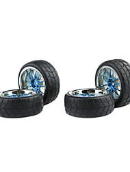 NEU 4tlg Plating 1/10 ON ROAD RC CAR Felge und Reifen, General Für HSP gebraucht, HPI, Tamiya RC Car 250044