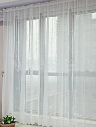 neoklassischen zwei Platten Blumen Botanik weißen Schlafzimmer Polyester Gardinen Schattierungen