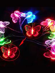 Sept Couleurs 2.5M papillon LED lampe à cordes avec 10 LED - Décoration de Noël et Halloween (batterie Utilisations)
