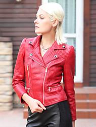 Lindo Lambskin Leather Jacket Inverno / Moda
