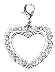 Dog tags Rhinestone Decorated Heart Type Photo Frame Style Collar Charm for Dogs Cats