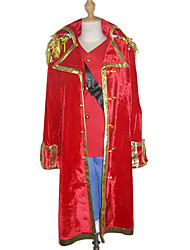 Inspired by One Piece Monkey D. Luffy Anime Cosplay Costumes Cosplay Suits Patchwork Red Long Sleeve Cloak / Vest / Shorts / Strap