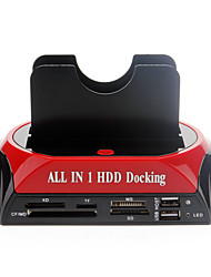 "All-in-1 2.5 ""3.5"" IDE / SATA / Esata HDD Docking com leitor de cartão"