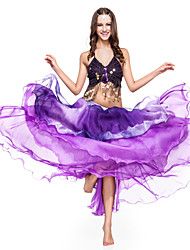 Dancewear Chiffon With Tiers Belly Dance Skirt For Ladies More Colors