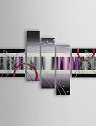 Ручная роспись Абстракция 5 панелей Холст Hang-роспись маслом For Украшение дома