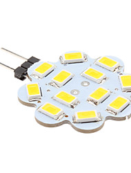 2w g4 led bi-pin lights 12 smd 5630 250 lm blanc chaud blanc 12 v