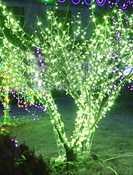 20M Green LED String Lamp with 160 LEDs - Christmas & Halloween Decoration (Star)