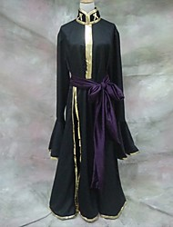 Inspired by Saint Seiya Hades Anime Cosplay Costumes Cosplay Suits Solid Black Long Sleeve Coat / Belt
