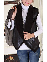 Sleeveless Turndown Collar Casual Faux Fur Vest(More Colors)