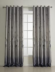 Grey Floral / Botanical Polyester
