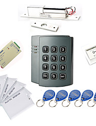 Plastic Standalone Access Controller with 1000 Users(Electric Bolt,10 EM-ID Card,Power Supply)