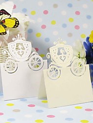 """Place Cards and Holders """"Enchanted Carriage"""" Fairytale Themed Place Card - Set of 12 (More Colors)"""