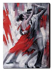 Pintado a mano de pintura de aceite Dancing People 1211-PE0082
