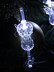 1.5M 10-LED Guitar Shaped White Light String Fairy Lamp for Christmas (3xAA)