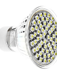 Gu10 4 w 60 smd 3528 350 lm branco natural mr16 spot lights ac 220-240 v