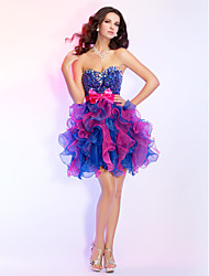 Homecoming Prom/Cocktail Party/Homecoming/Sweet 16 Dress Ball Gown Strapless/Sweetheart Short/Mini Organza/Sequined